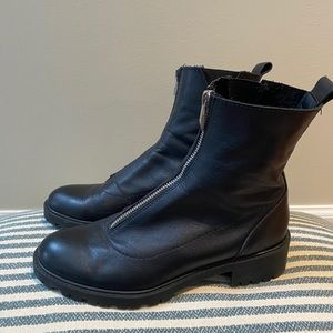 Zara leather TRF boots